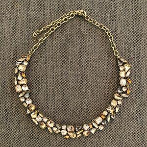J. Crew Crystal Foliage Choker Necklace